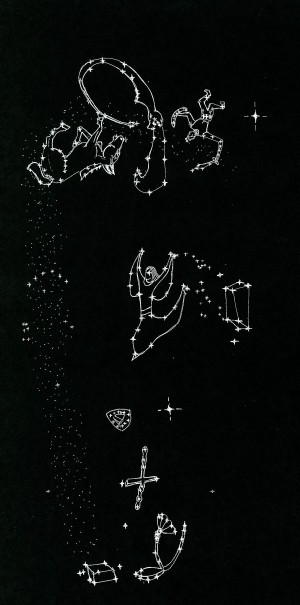 constellation of signs of heaven in upright position