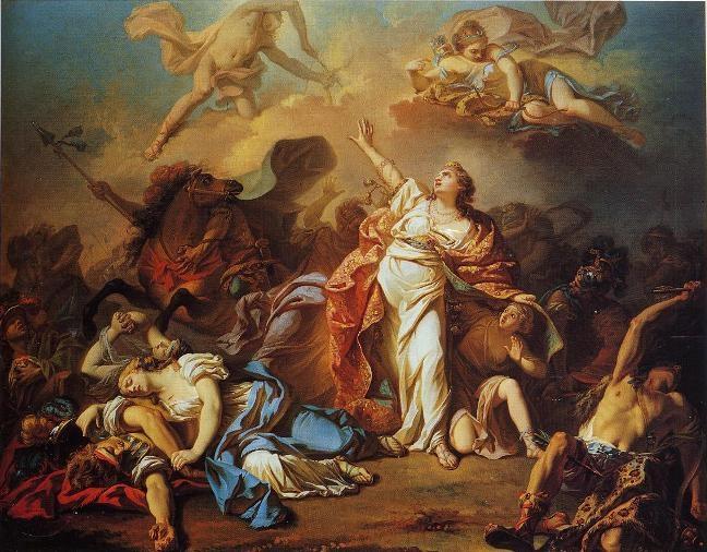 http://en.wikipedia.org/wiki/File:Niobe_JacquesLouisDavid_1772_Dallas_Museum_of_Art.jpg