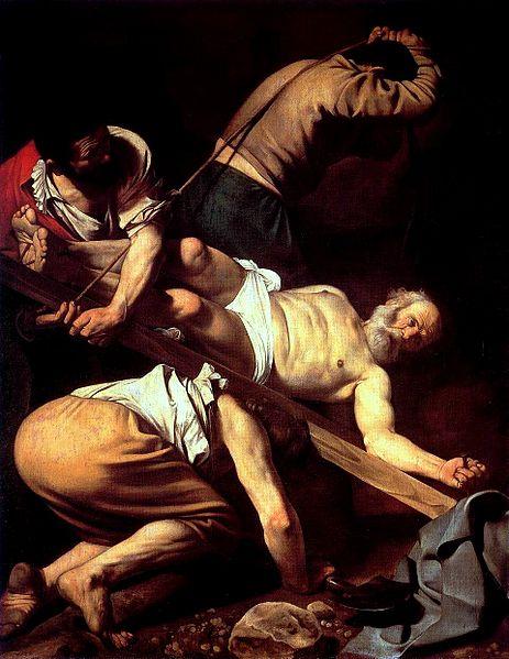 http://en.wikipedia.org/wiki/File:Caravaggio_-_Martirio_di_San_Pietro.jpg